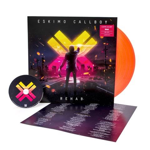 √Rehab (Ltd. Neon Orange Vinyl) von Eskimo Callboy - LP jetzt im Eskimo Callboy Shop
