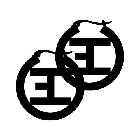 Black Logo von Eskimo Callboy - Ohrringe (Paar) jetzt im Eskimo Callboy Shop