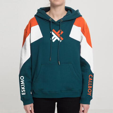 √3-Tone X von Eskimo Callboy - Girlie hooded sweater jetzt im Eskimo Callboy Shop