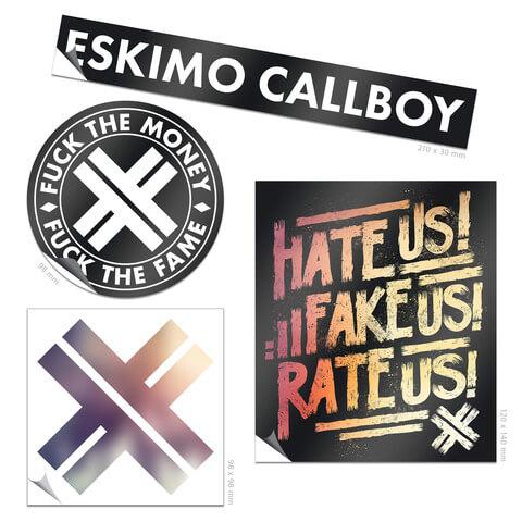 Logo Sticker Set von Eskimo Callboy - 4er Sticker Set jetzt im Eskimo Callboy Shop