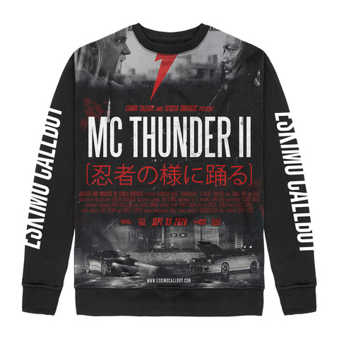 √MC Thunder II Allover von Eskimo Callboy - Crewneck Sweater jetzt im Eskimo Callboy Shop